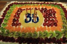 Urodzinowy tort Piasta czeka.