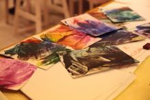Obrazki namalowane żelazkiem.